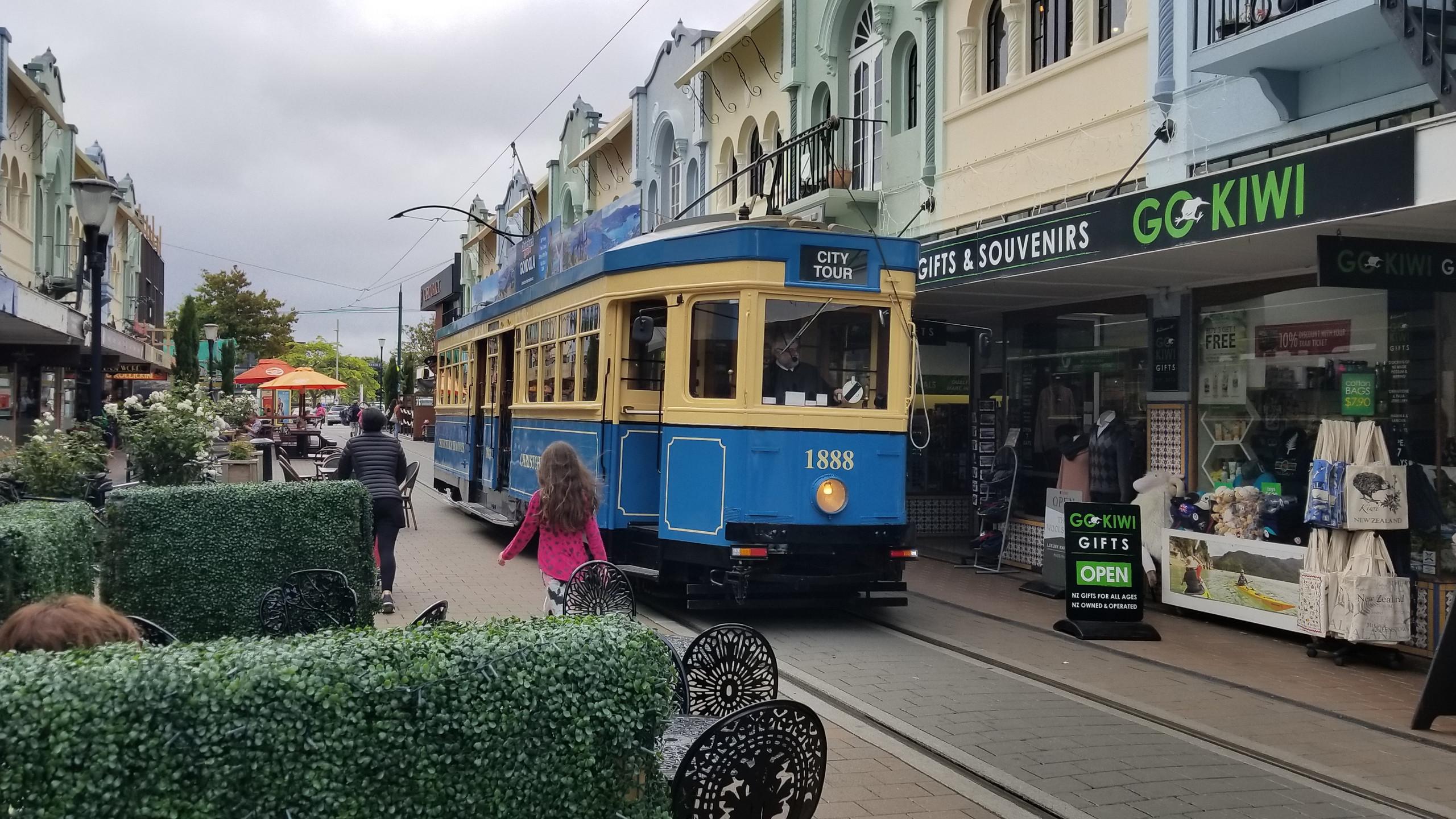 Christchurch tram, New Zealand activities, New Zealand tours
