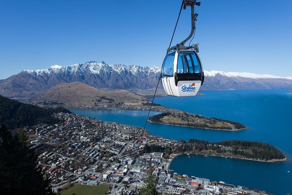Фуникулер Небесная Гондола с видом на Квинстаун, Новая Зеландия. Туры в Новую Зеландию.