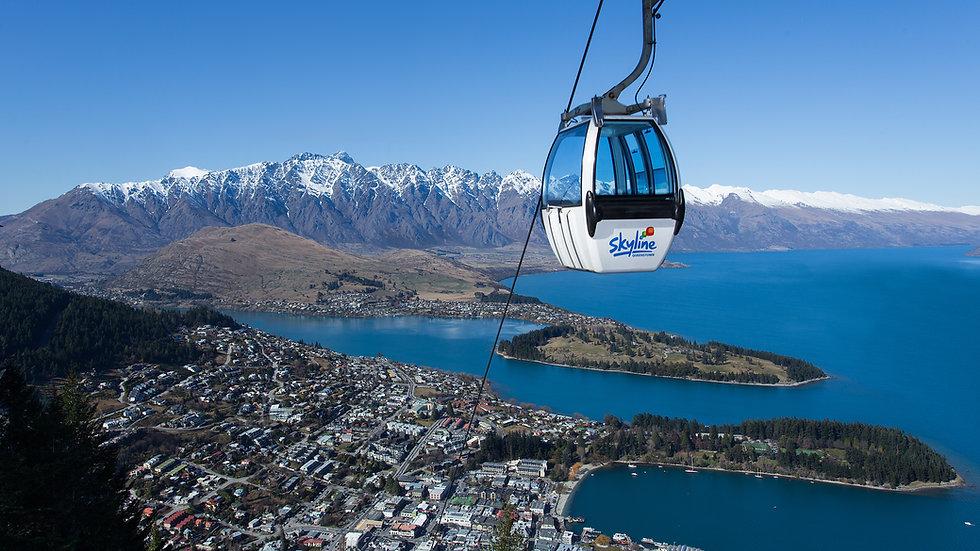 Фуникулер Небесная гондола, Квинстаун, Новая Зеландия. Туры в Новую Зеландию. Экскурсии в Новой Зеландии.