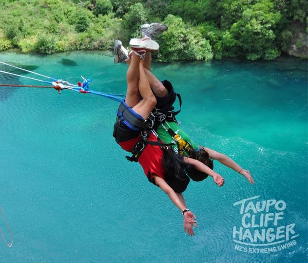Tandem Extreme Swing. Taupo Cliffhanger.