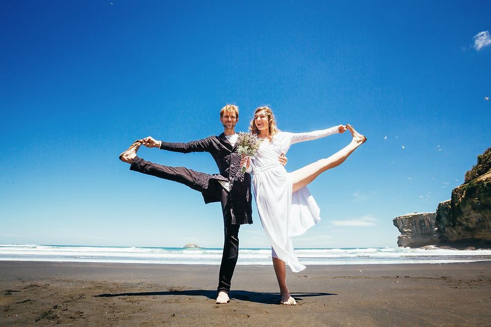 свадьба в Новой Зеландии на пляже