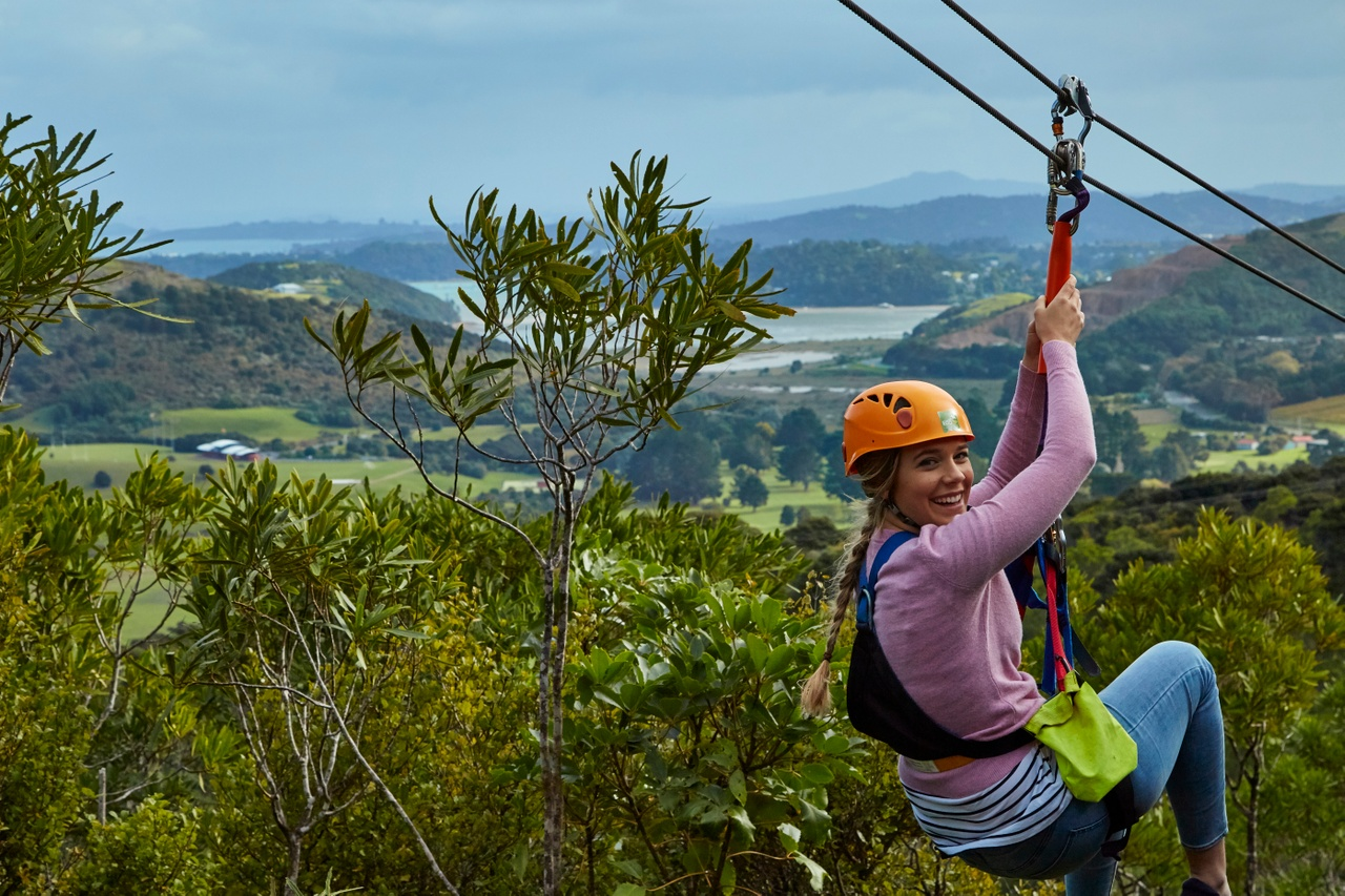 Zipline on Waiheke island, Auckland, New Zealand attractions, New Zealand activities