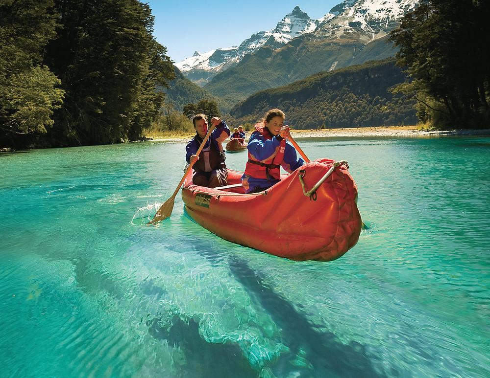 Каякинг в Новой Зеландии, река Дарт, Квинстаун