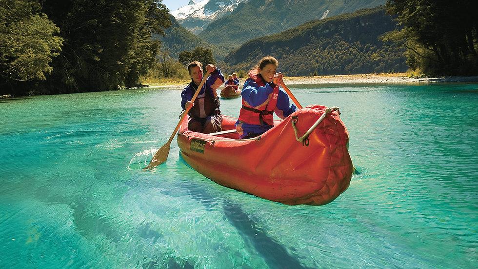 Каякинг на реке Дарт, Квинстаун, Новая Зеландия. Туры в Новую Зеландию. Экскурсии в Новой Зеландии.