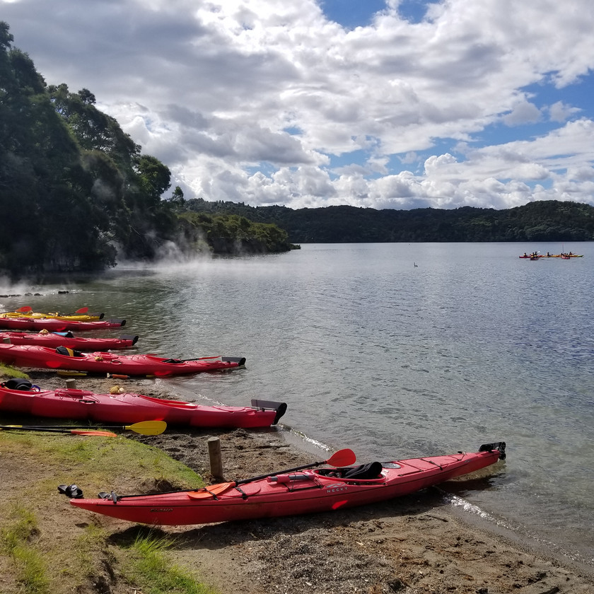Hot water beach on Tarawera lake, New Zealand activities, tours to New Zealand