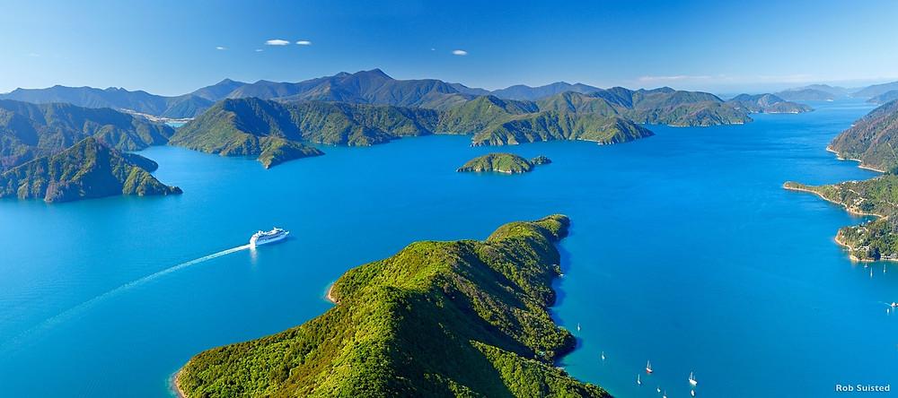 Пролив Кука, Новая Зеландия. Туры в Новую Зеландию. Гид в Новой Зеландии.