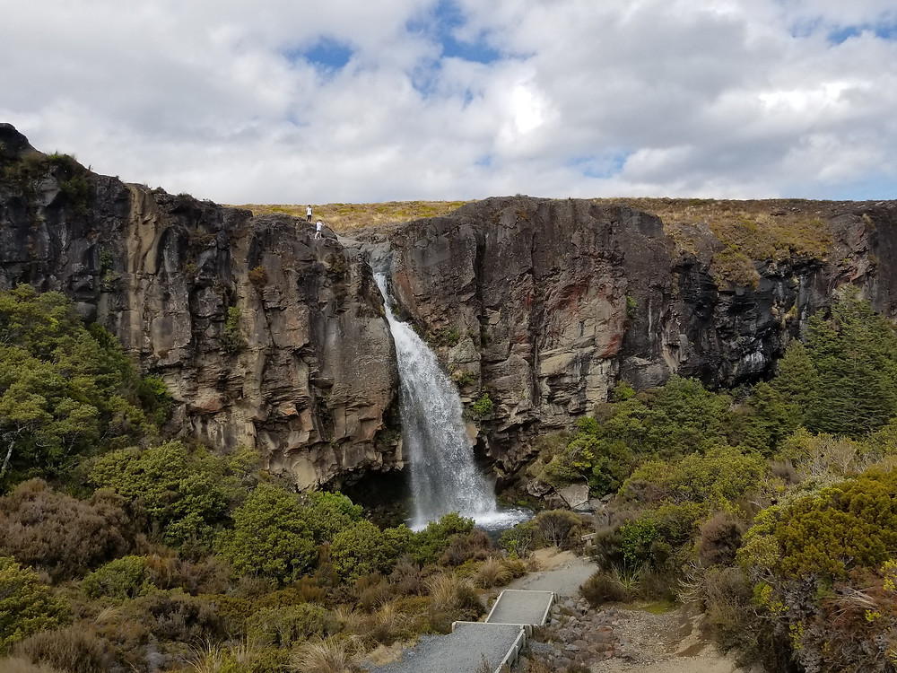 Taranaki falls, Tongariro national park, New Zealand tour, New Zealand itinerary