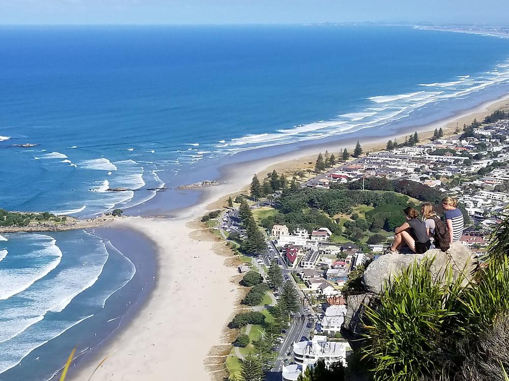 Вид с горы Маунгануй Новая Зеландия