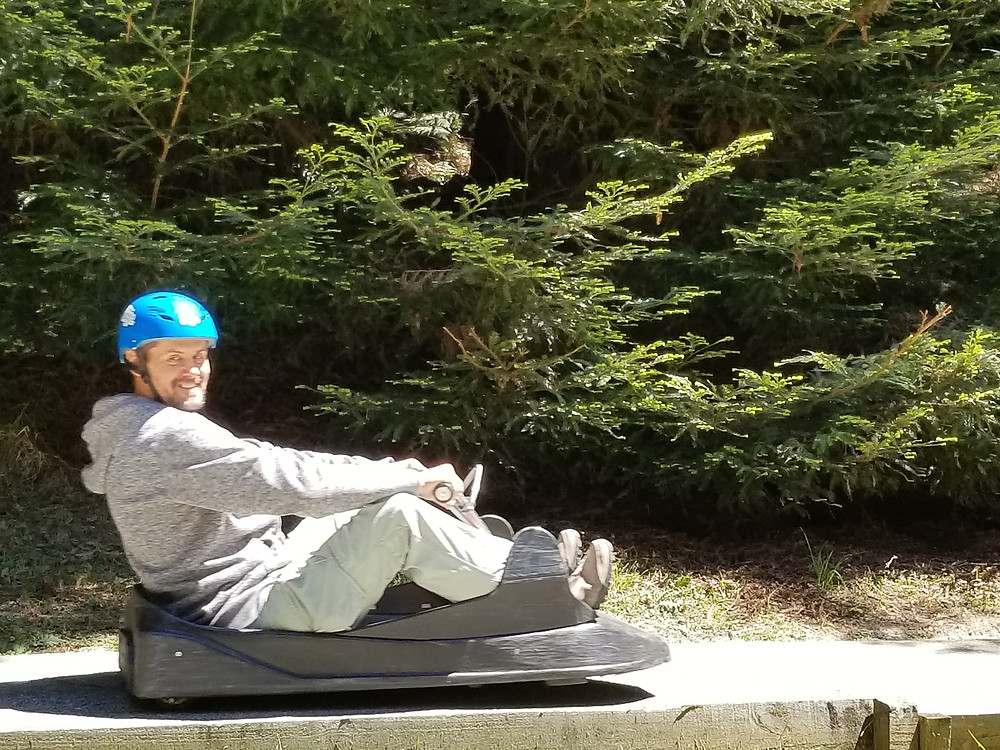 Luge ride at Skyline Rotorua New Zealand