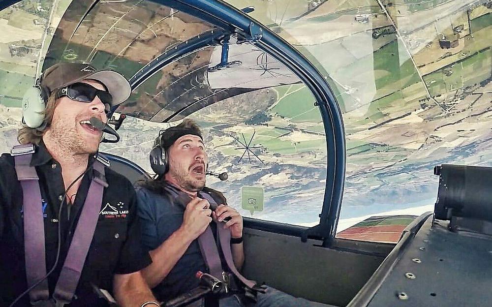Aerobatic flights in Wanaka New Zealand