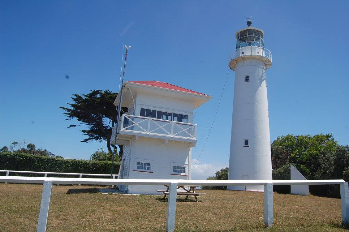 Light house on Tiri Tiri Matangi Island New Zealand