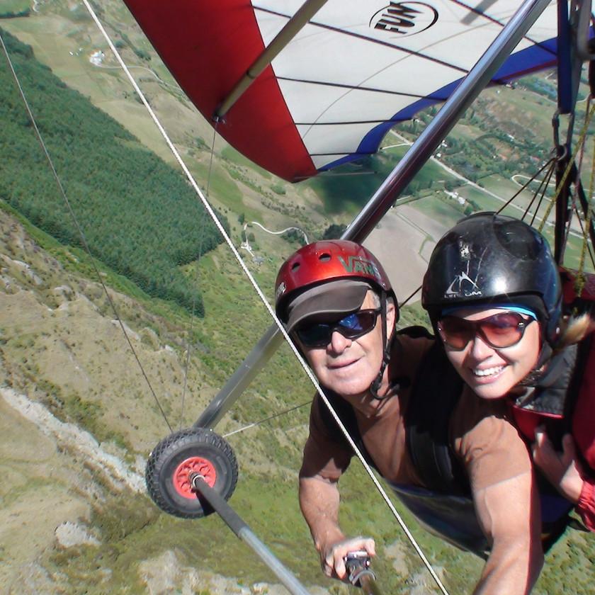Hang gliding on Coronet Peak Queenstown New Zealand