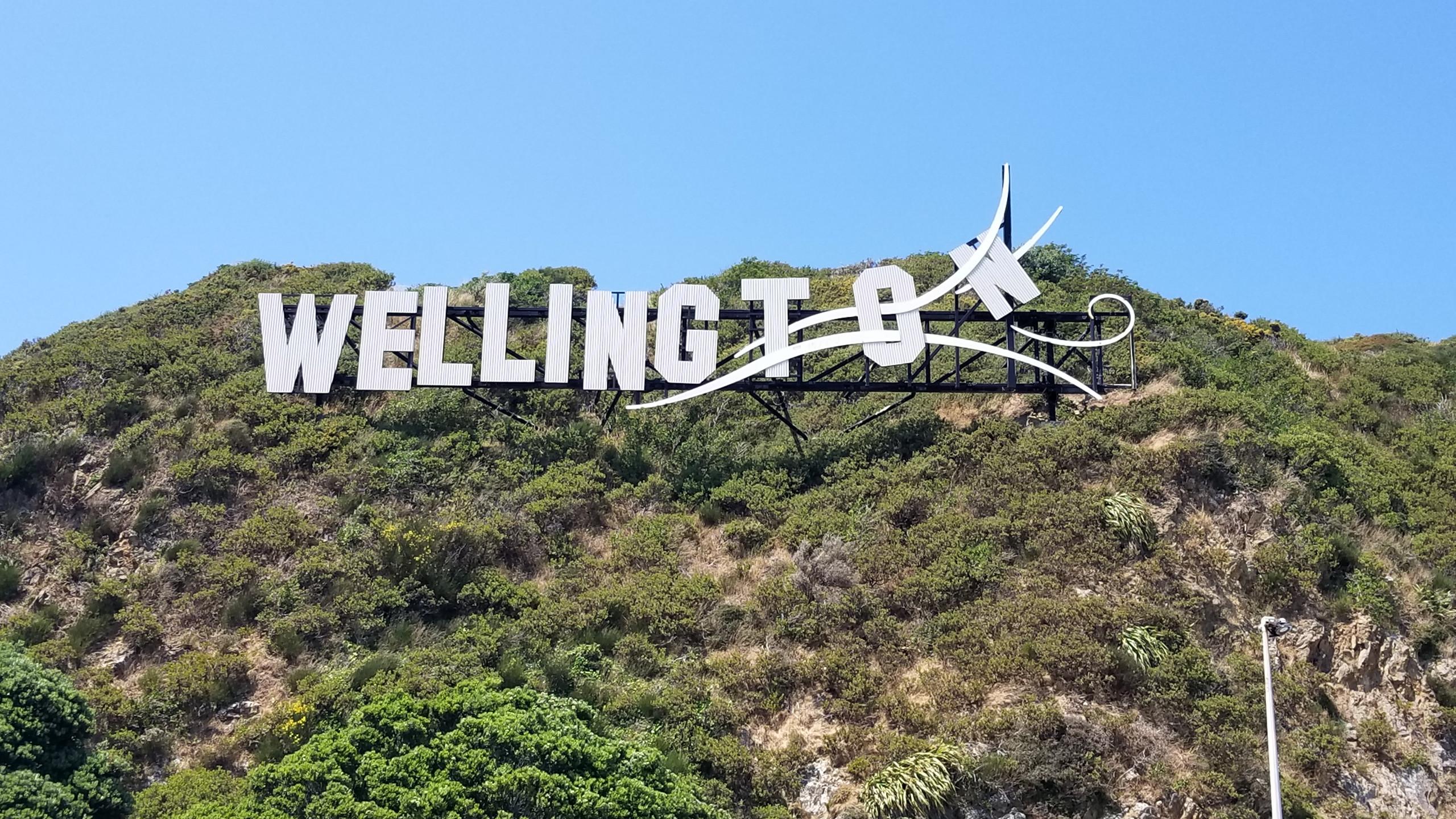 Wellington sign, New Zealand activities, tours of New Zealand