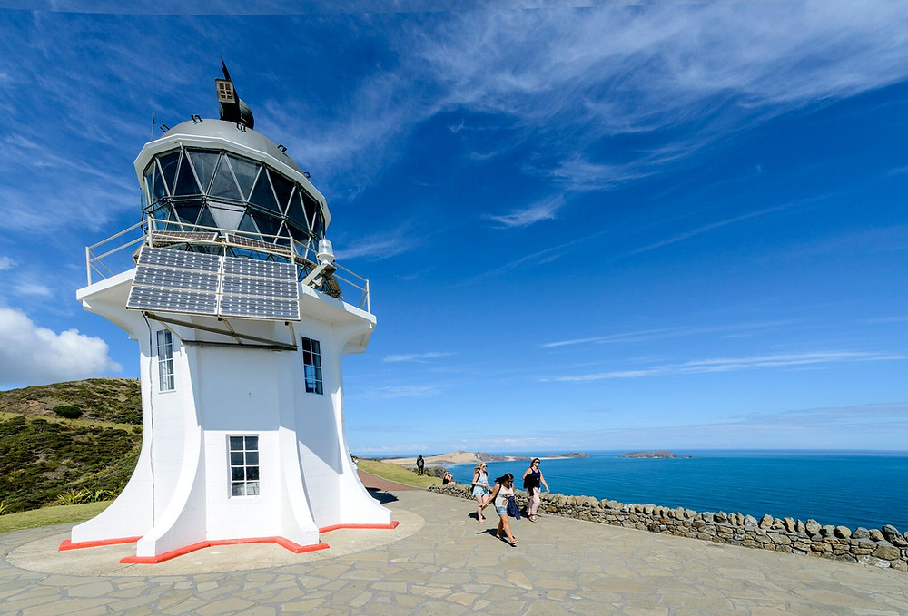 Light house on Cape Reinga New Zealand