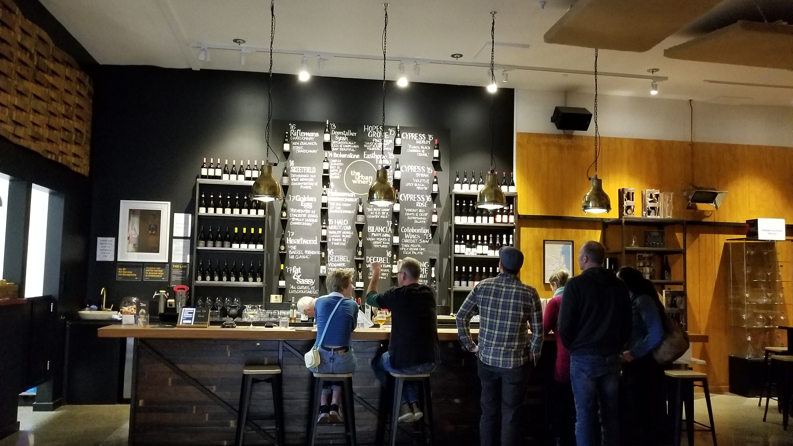 New Urban winery, Napier, New Zealand travel blog