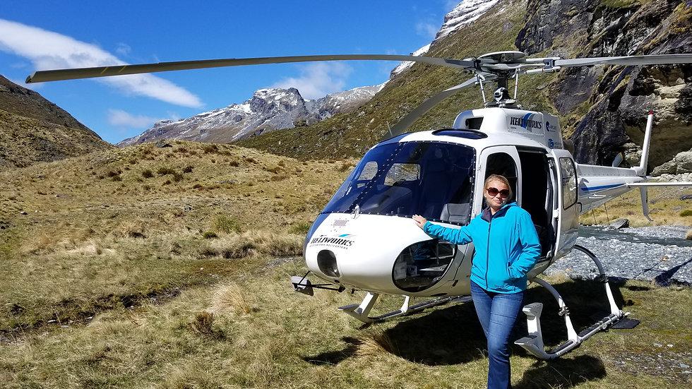 Вертолетные экскурсии, Квинстаун, Новая Зеландия. Туры в Новую Зеландию. Экскурсии в Новой Зеландии.