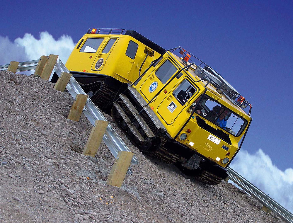 Hagglund Ride in Antarctic Centre, Christchurch New Zealand