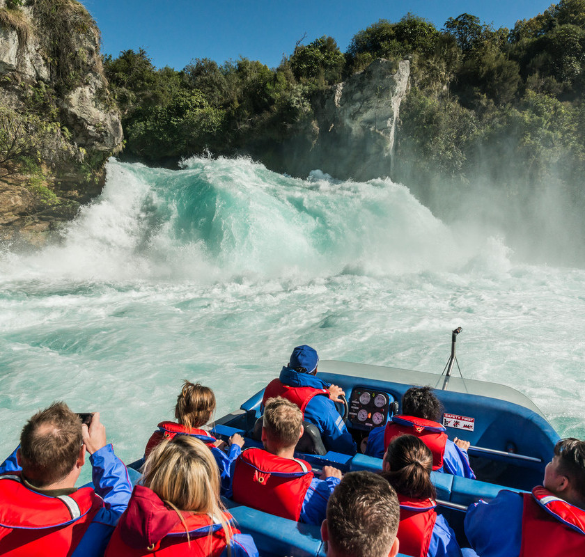 Huka Falls Jet Ride + Cruise to Maori Rock Carvings, Taupo