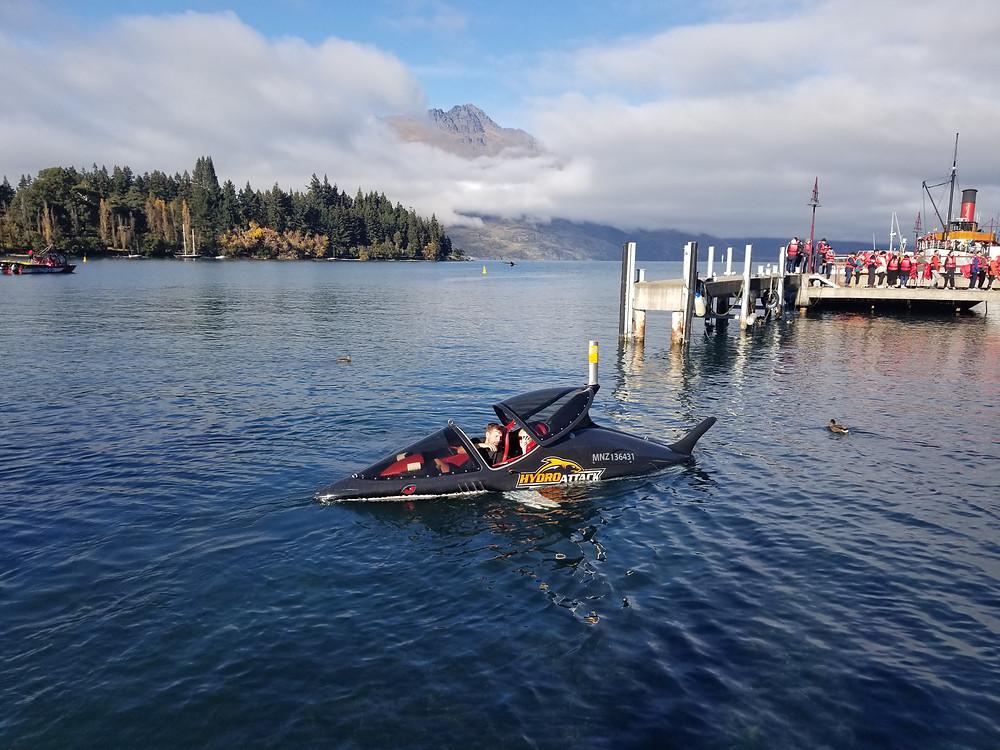 Hydro attack, Квинстаун, Новая Зеландия, лодка акула