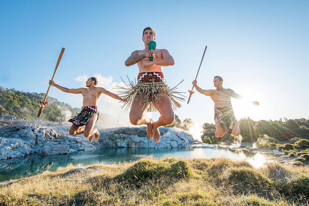 Maori cultural experience at Te Puia, Rotorua, group tour to New Zealand
