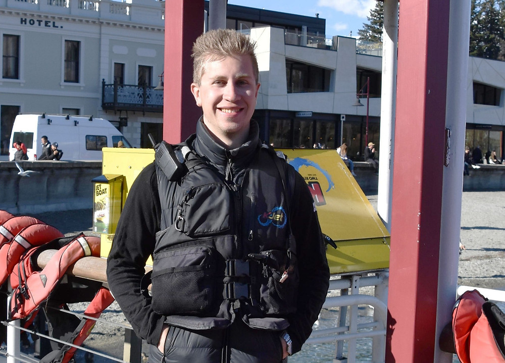 New Zealand travel blog. New Zealand tourism occupations. A jet boat driver..