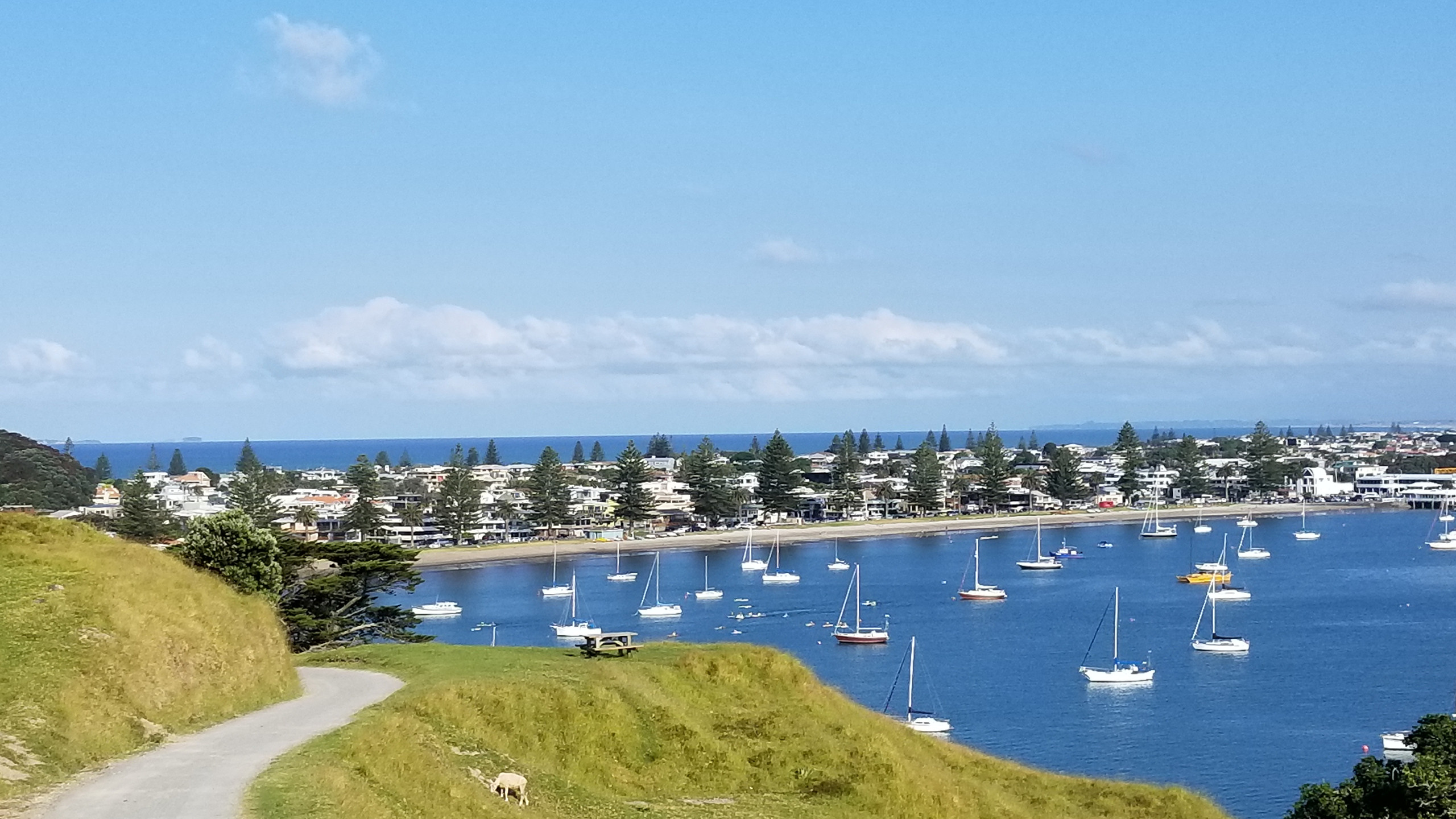View from Mt Maunganui summit, New Zealand attractions, New Zealand activities
