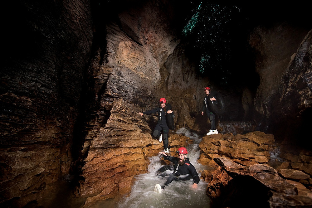 Rafting in Waitomo Glowworm Caves New Zealand