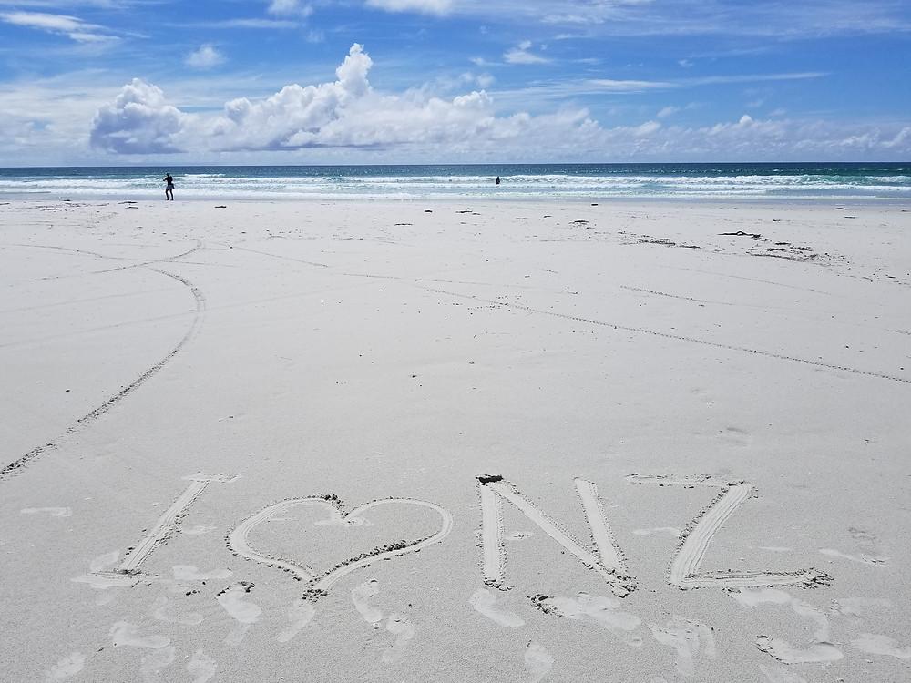 Пляж Рарава, Новая Зеландия. Туры в новую Зеландию. Гид в новой Зеландии.