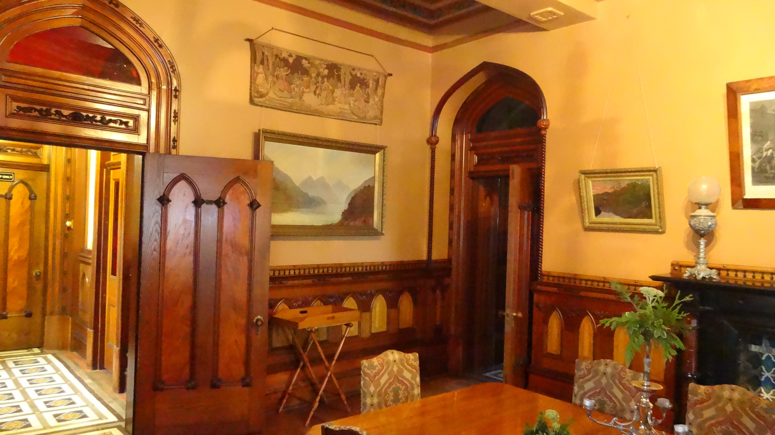 Larnach castle interior, Dunedin, New Zealand travel blog, New Zealand tours
