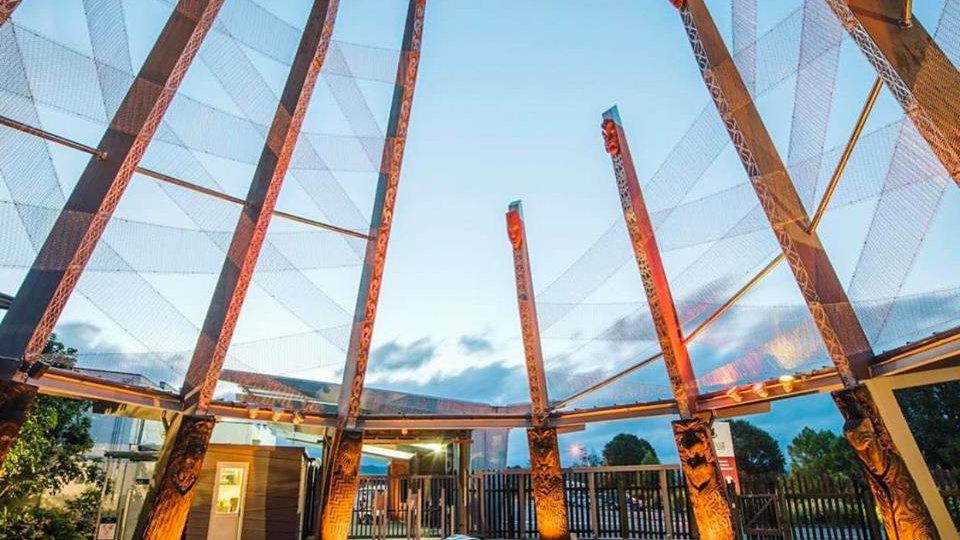 Геотермальный и маорийский комплекс Те Пуйа, Роторуа, Новая Зеландия