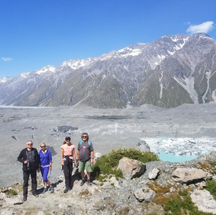 Над ледником Абеля Тасмана