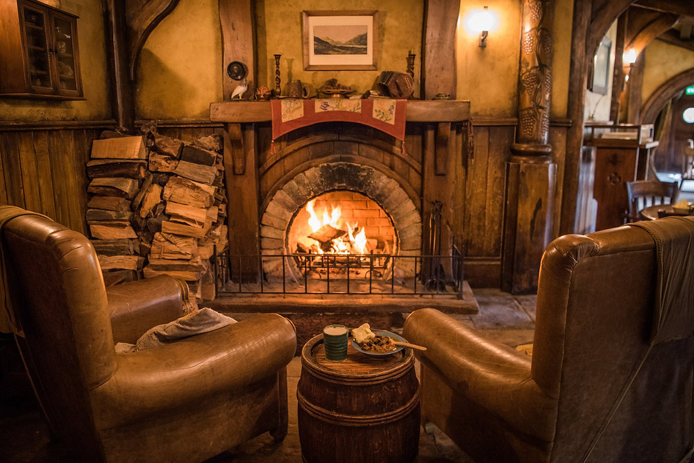 Green Dragon pub in Hobbiton New Zealand