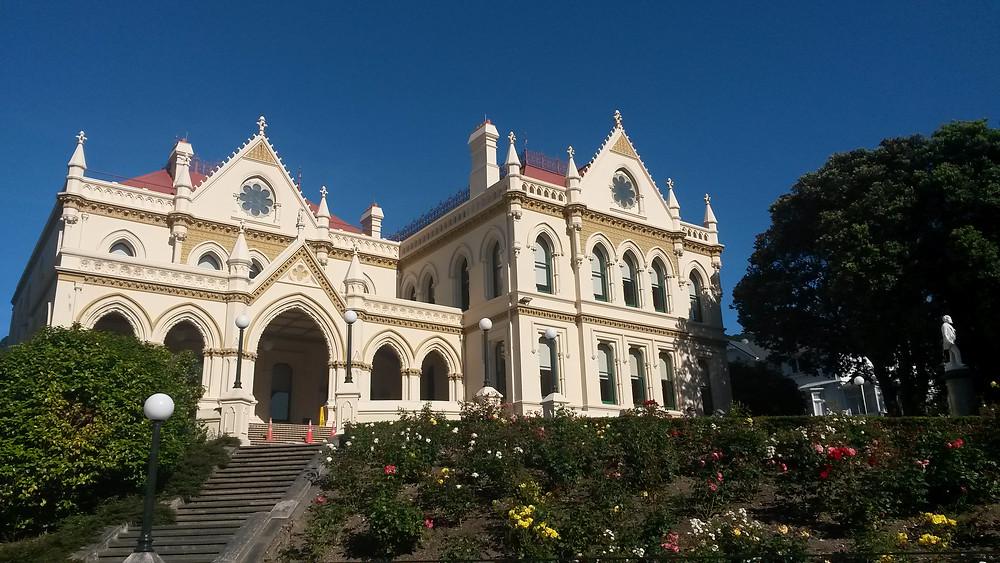 Здание библиотеки парламента Веллингтон Новая Зеландия