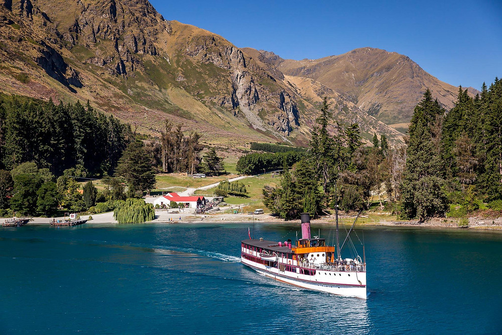 TSS Earnslaw Cruise & Walter Peak cruise on Lake Wakatipu New Zealand