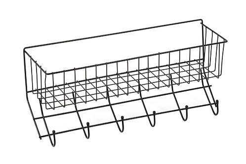 Equi-Essentials Wire 6-Hook Tack Rack with Basket
