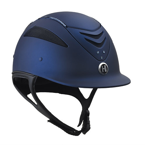 One K Defender Helmet with Swarovski Stones -Navy