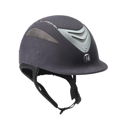 One K Defender Suede Helmet with Swarovski Stones - Grey