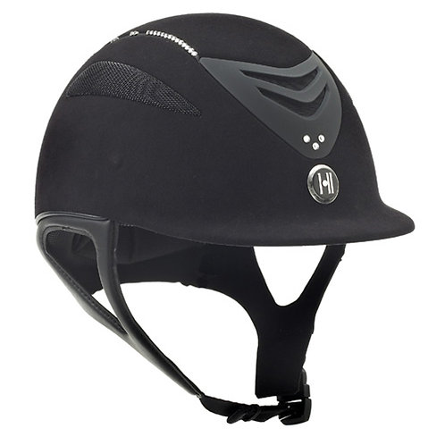 One K Defender Suede Helmet with Swarovski Stones - Black
