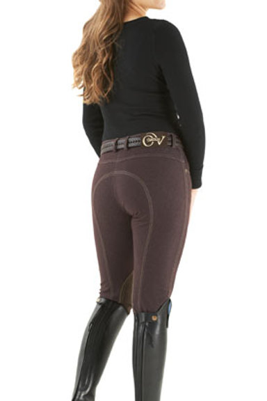 Ovation SoftFLEX Zip Front Classic Knee Patch Breeches - Ladies' BRN