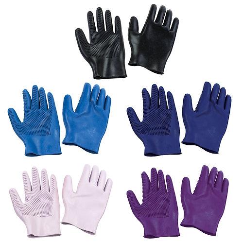 Equi-Essentials Curve Finger Grooming  Gloves- Pair