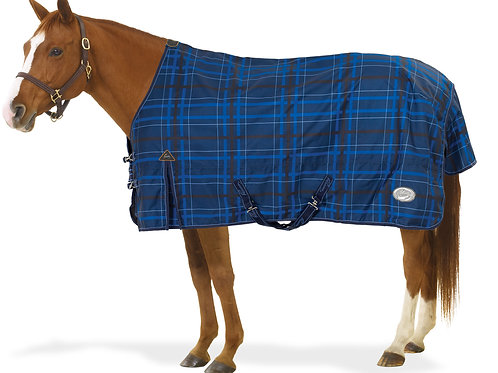 Pessoa Alpine 1200D Turnout Blanket with 180G Fill - Navy Black Plaid