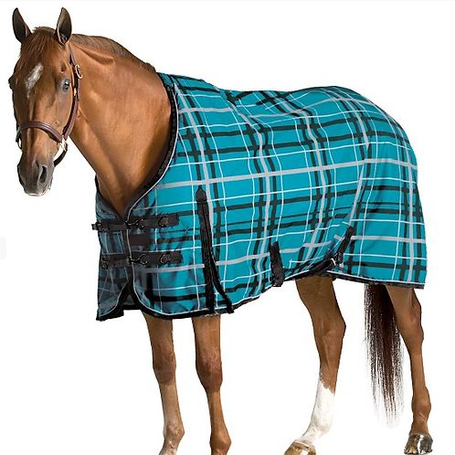 Pessoa Alpine 1200D Turnout Blanket with 180G Fill - Juniper Clay Plaid