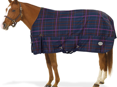 Pessoa Alpine 1200D Turnout Blanket with 180G Fill - Navy Magenta Plaid