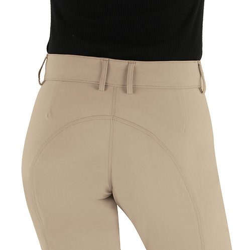 Ovation EuroWeave DX Taylored Front Zip Knee Patch Euro Seat Breeches- Ladies'