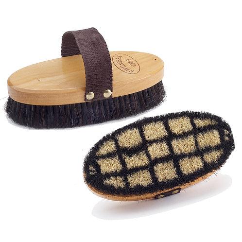 Equi-Essentials Wood Back Body Brush with Pig Bristles