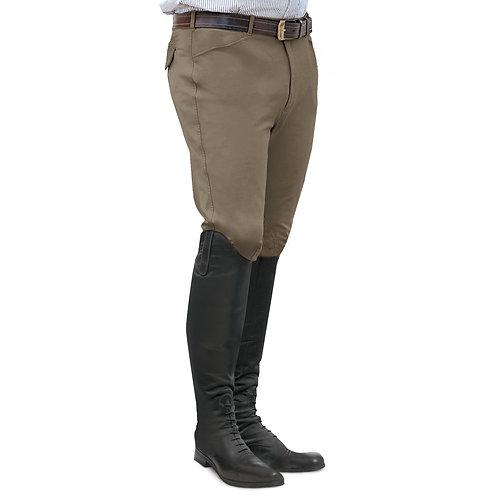 Ovation EuroWeave Front Zip 4-Pocket Knee Patch Breeches - Men's