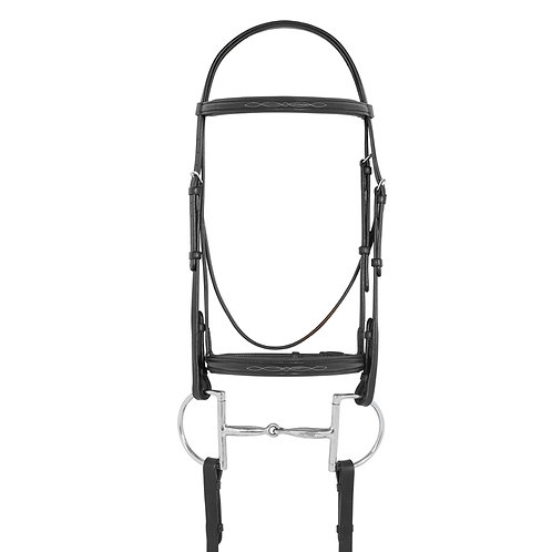 Camelot Fancy Raised Padded Bridle with Laced Reins
