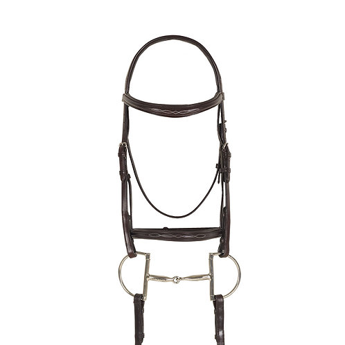 Ovation Breed Fancy Stitched Raised Padded Bridle- Draft Cross