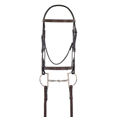 Ovation Elite Fancy Comfort Crown Padded Bridle w/ Fancy Laced Reins