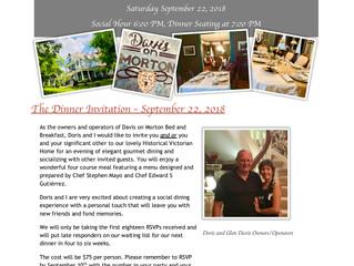 September 22 Dinner Invitation